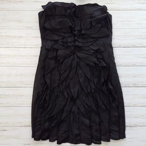 do & be strapless black cocktail dress sz L